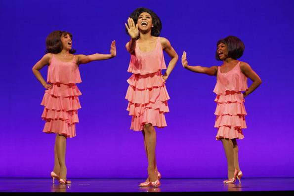 Allison Semmes (center) as Diana Ross in Motown The Musical